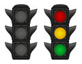 Traffic lights for cars vector illustration