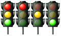 Traffic lights illustration of the on a white background Royalty Free Stock Photos