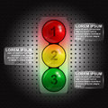Traffic lights infographic template in form of eps illustration Stock Image