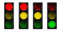 Traffic lights isolated on white Royalty Free Stock Images