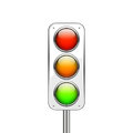 Traffic lights isolated on white background Stock Images