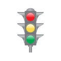 Traffic lights isolated on the white background Stock Images