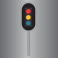 Traffic lights light with three in red yellow and blue vector illustration Stock Photography