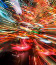 Traffic lights in motion blur colorful Royalty Free Stock Photography