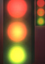 Traffic Lights at Night - Vector Illustration
