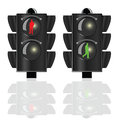 Traffic lights for pedestrians with man