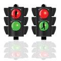 Traffic lights for pedestrians vector