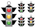 Traffic lights set Royalty Free Stock Photography
