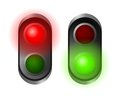 Traffic lights set of red and green Stock Photo