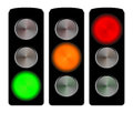 Traffic lights signals set isolated on white Royalty Free Stock Photography
