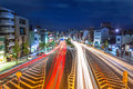 Traffic lights on the street of Kyoto Royalty Free Stock Photo