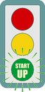 Traffic lights symbol. Flashing green Royalty Free Stock Photo