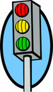Traffic lights vector illustration Royalty Free Stock Images