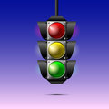 Traffic lights vector illustration of Royalty Free Stock Photo