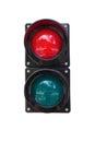 Traffic lights on white background isolated Stock Image