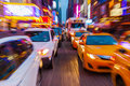Traffic in Manhattan, NYC Royalty Free Stock Photo