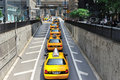 Traffic in midtown manhattan Royalty Free Stock Photo