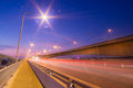 Traffic motorway overpass at twilight Royalty Free Stock Images