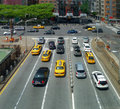 Traffic in new york city high angle scenery usa Stock Photo