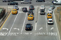 Traffic in new york city high angle scenery usa Royalty Free Stock Photography