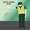Traffic police in action Royalty Free Stock Photo