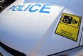 Traffic police car surveillance camera recording equipment sign Royalty Free Stock Photo