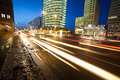 Traffic at potsdamer platz in berlin Royalty Free Stock Image