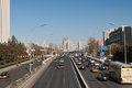 Traffic on rd ring road in beijing china dec dec is the second largest chinese city by urban population after shanghai and Royalty Free Stock Photography