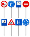 Traffic road sign set signs on a white background Stock Photography