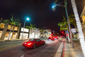 Traffic in Rodeo Drive Royalty Free Stock Photo