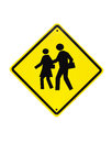 Traffic School warning sign) Royalty Free Stock Image