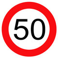 Traffic sign 50 Royalty Free Stock Images
