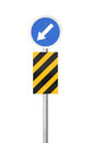 Traffic sign with clipping path isolated on white background Stock Images