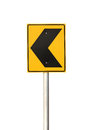 Traffic sign with clipping path isolated on white background Royalty Free Stock Photos