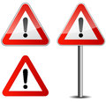 Traffic sign danger on white background Stock Photo