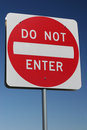 Traffic Sign - Do not enter Stock Photography