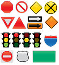 Traffic Sign Icons Stock Image