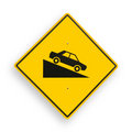 Traffic sign isolated on white, clipping path. Royalty Free Stock Images