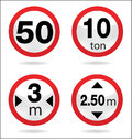 Traffic sign of limit basic symbol Royalty Free Stock Photo