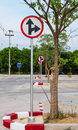 Traffic sign pole in thailand Stock Images