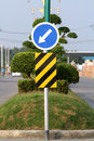 Traffic sign on the road Stock Images