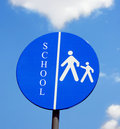 Traffic sign school Royalty Free Stock Photos