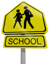 Traffic sign school Royalty Free Stock Photography