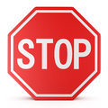 Traffic sign stop on white background Royalty Free Stock Photos