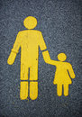 Traffic sign for walkers pedestrian path Stock Photo