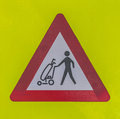 Traffic sign warning crossing golfers Royalty Free Stock Images