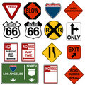Traffic Signage Set Royalty Free Stock Photography
