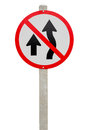 Traffic signal ban on white background Royalty Free Stock Image