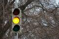 Traffic signal, yellow light Royalty Free Stock Photo