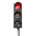 Traffic signals red isolated a Stock Image